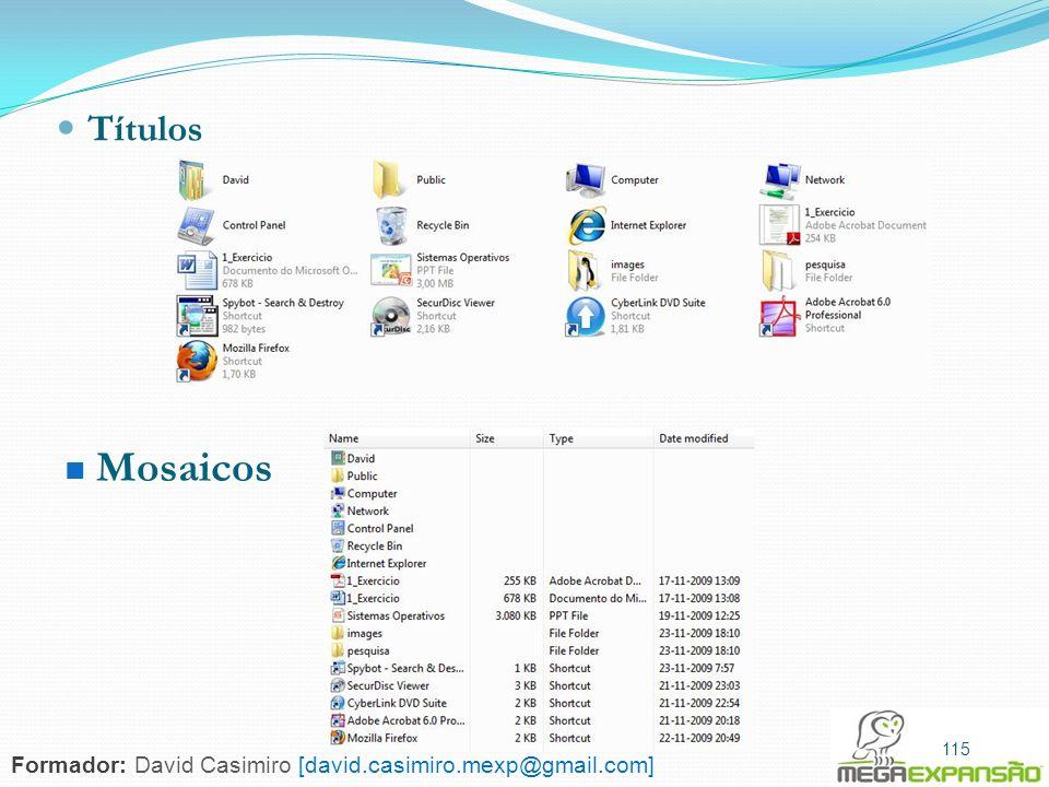 Títulos Mosaicos 115 Formador: David Casimiro [david.casimiro.mexp@gmail.com]